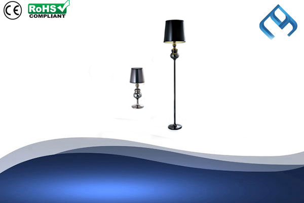 Metallic-Black-Floor-&-Table-Lamp