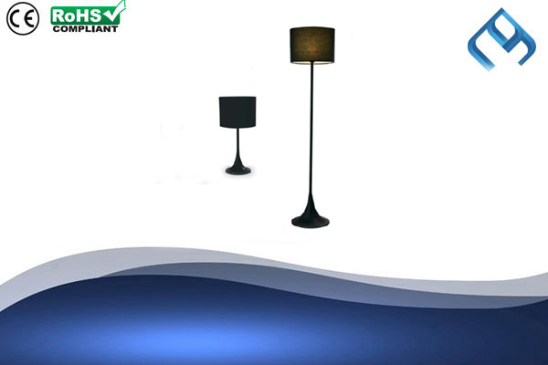 Fabric-Black-Floor-&-Table-Lamp